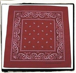 Bandana bordowa.