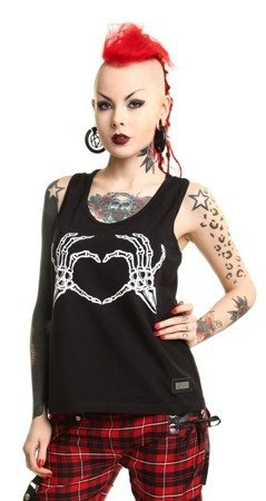 Top z nadrukiem - BONE LOVE TOP